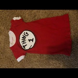 Thing 1 one piece 6 month outfit